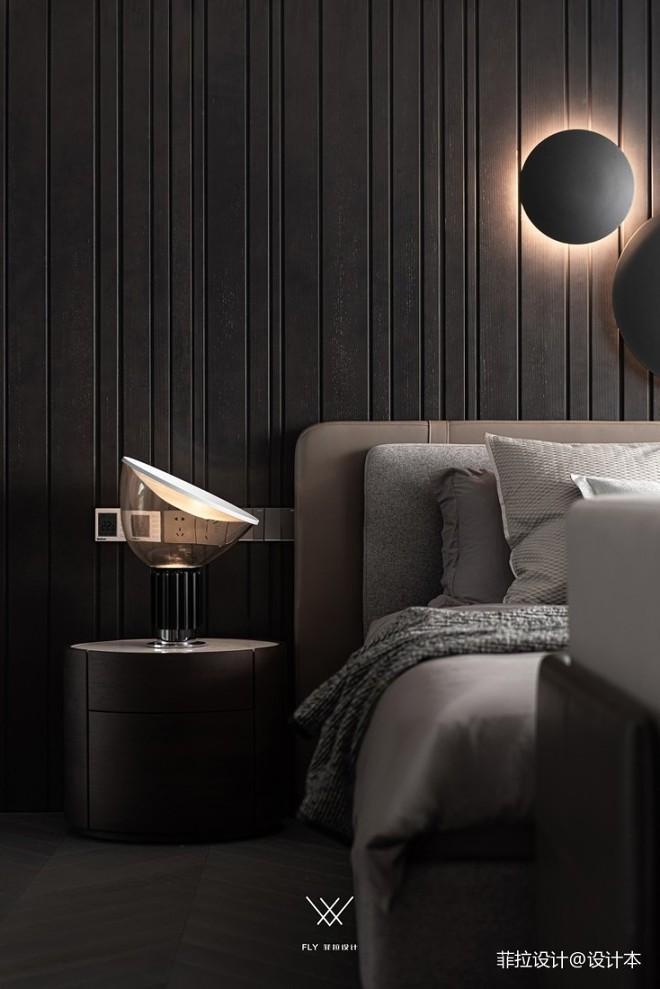 主臥室床頭壁燈裝修效果圖
