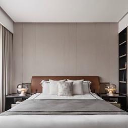 现代简约卧室背景墙装修效果图大全