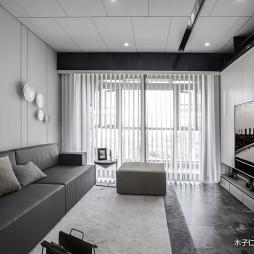 灰色客厅窗帘