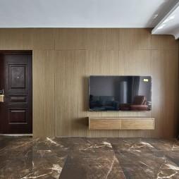 实木电视墙效果图