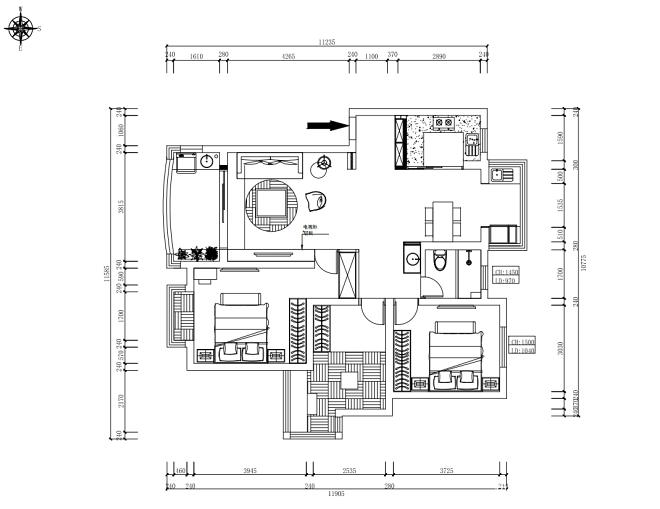 120平三居室北欧风—色界_1605