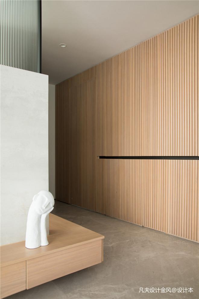 不可錯過的最美木柵格墻—現代純凈原木
