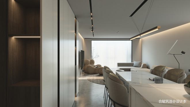130 m²现代简约设计,看一眼就心