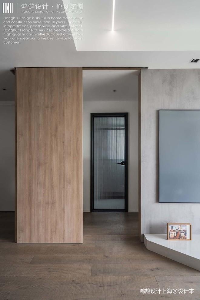 水泥灰配原木,拼接背景墙这么做最出色
