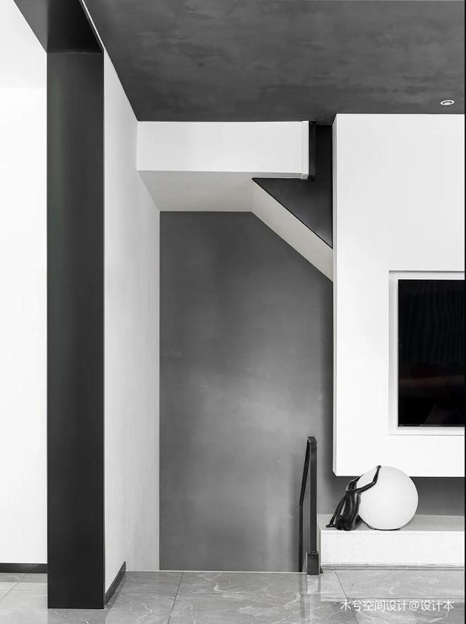 西安360㎡私宅别墅,黑白格调气质非