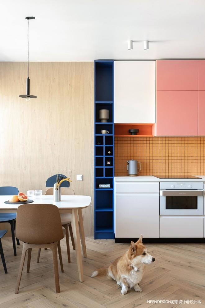 蒙德里安风格:明亮的配色反映了房子的