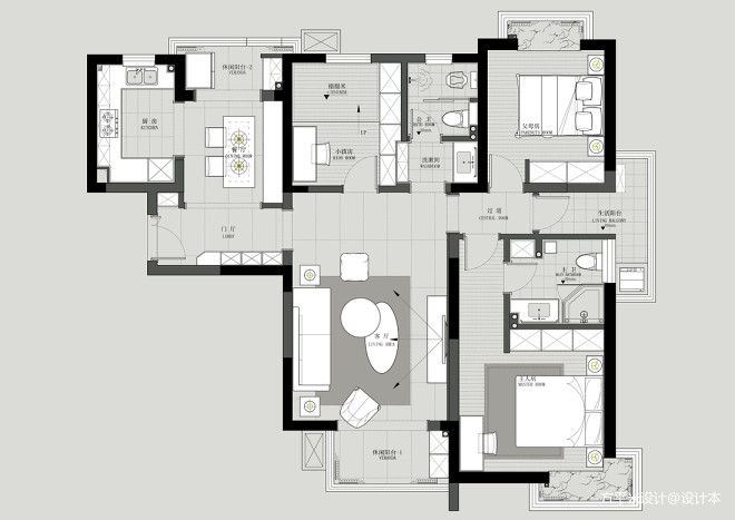 小菠萝の家  墨绿现代风,让家变得更