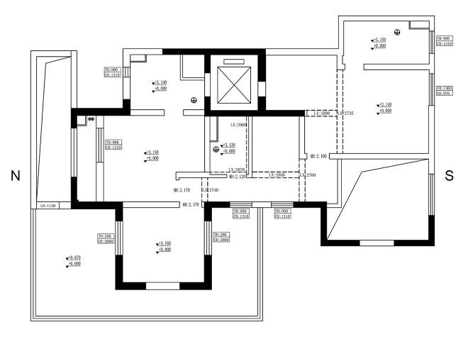 简狄实景案例 光影之境 双客厅三面落