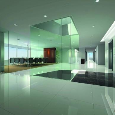 广州天伦集团办公楼-办公区电梯门厅.jpg