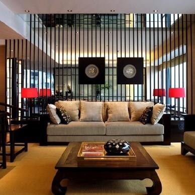 中式现代客厅4668