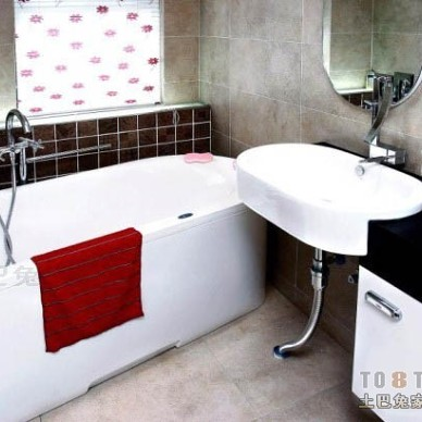 黑白冷酷卫生间装修效果图大全