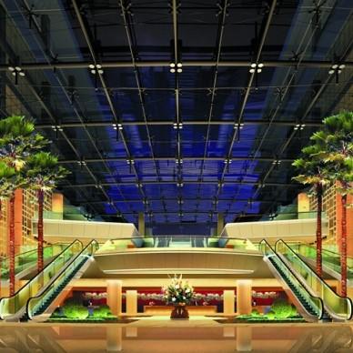 最新机场宾馆大堂装修效果图