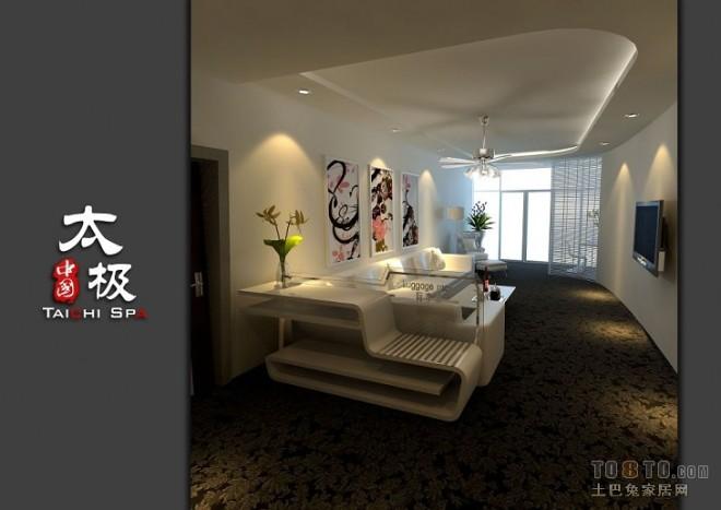 442F-3F套房超现代客厅高视角