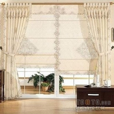 家居落地窗窗帘布艺装修图片