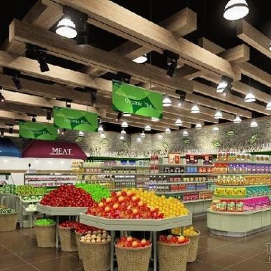 超市货架装修效果图