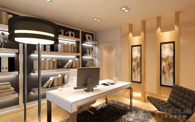 书房装修效果图大全2012图片