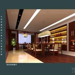 兴国银盛花园三套三房打通设计图餐厅(14)