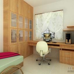 中式小书房带床装修效果图
