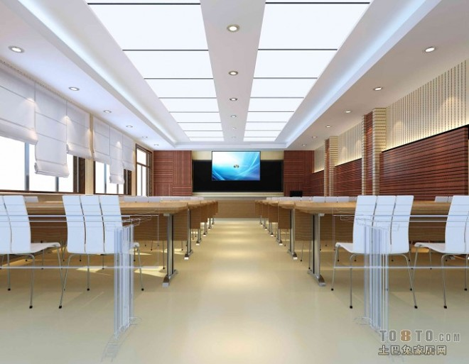 大型多媒体教室吊顶装修效果图片