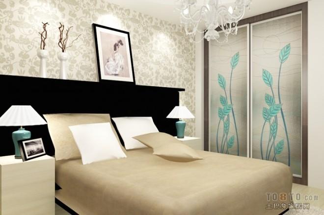 现代风格卧室408541