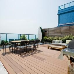2017欧式风格露天观景休闲绿化阳台装修设计图