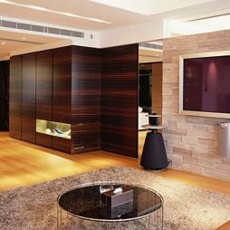 家装简欧式客厅过道隐形门装修效果图