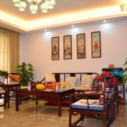 纯红木家具中式客厅装修效果图片