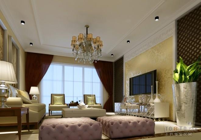 欧式风格整体客厅效果