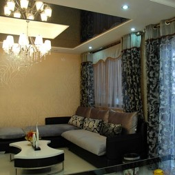 房屋客厅窗帘装修效果图集欣赏