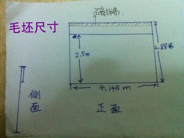 请问这个尺寸如何做背景墙