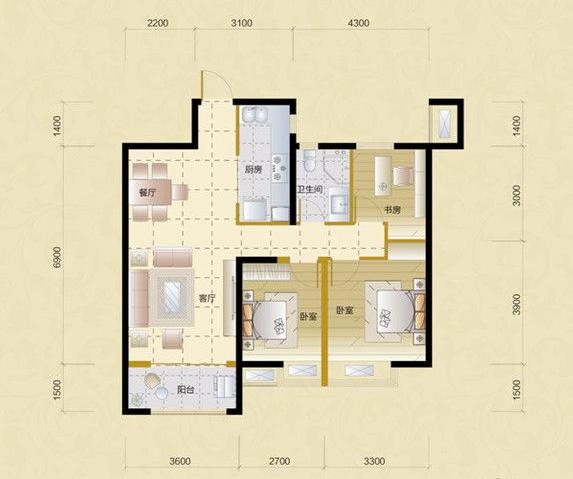 户型规划做三房