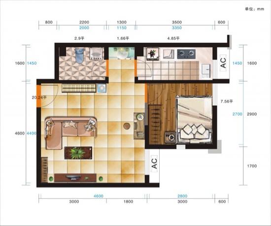 怎么设置两室一厅?