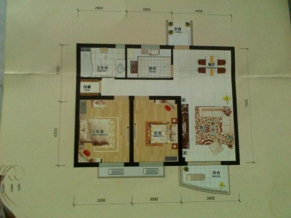这个户型两房改三房怎么改?