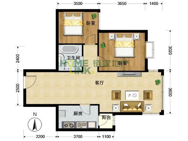 二居室想改3居,怎么设计