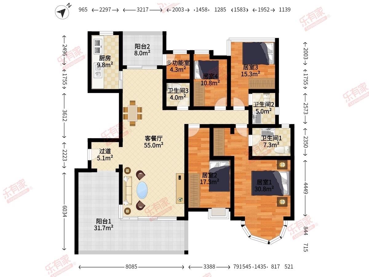220多平的房子装修费用差不多多少?