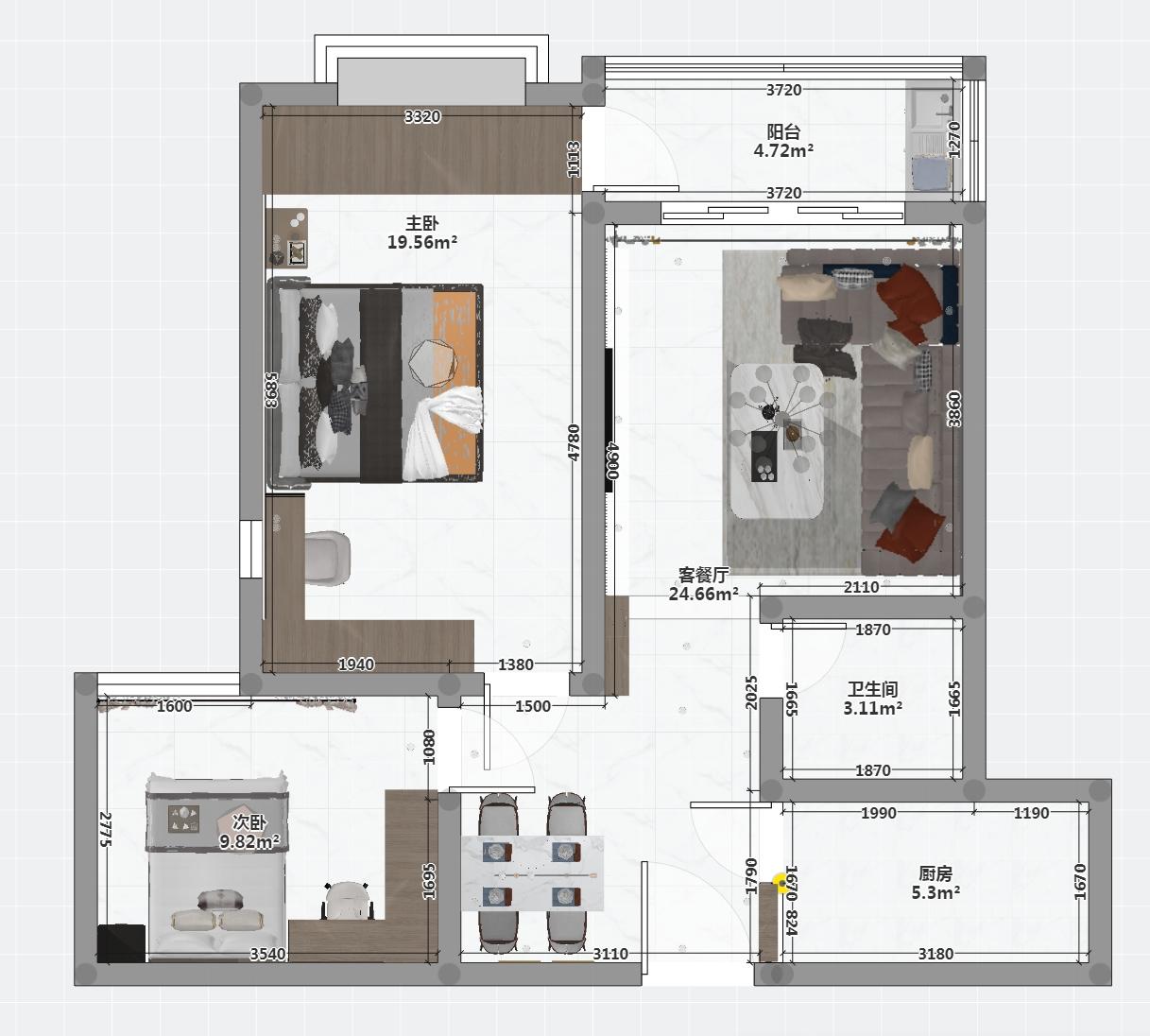 主卧室太大不知道如何设计,求推荐
