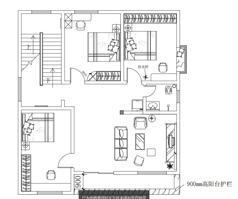 户型一览无余,房间的布局总感觉有些呆板,这是二楼的平层,不用考虑餐厅厨房。