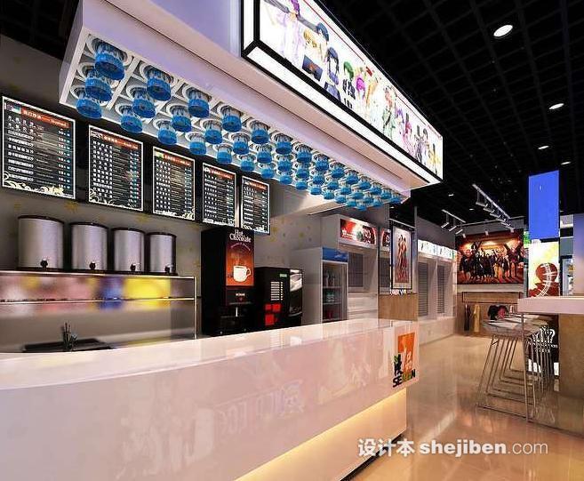 奶茶店吧台设计