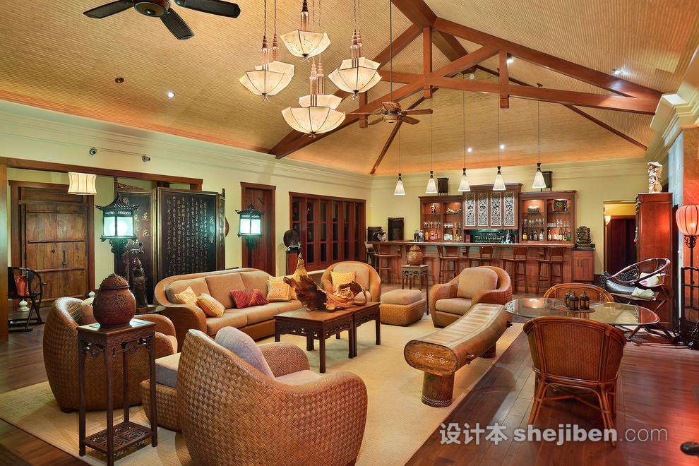 東南亞風格客廳設計