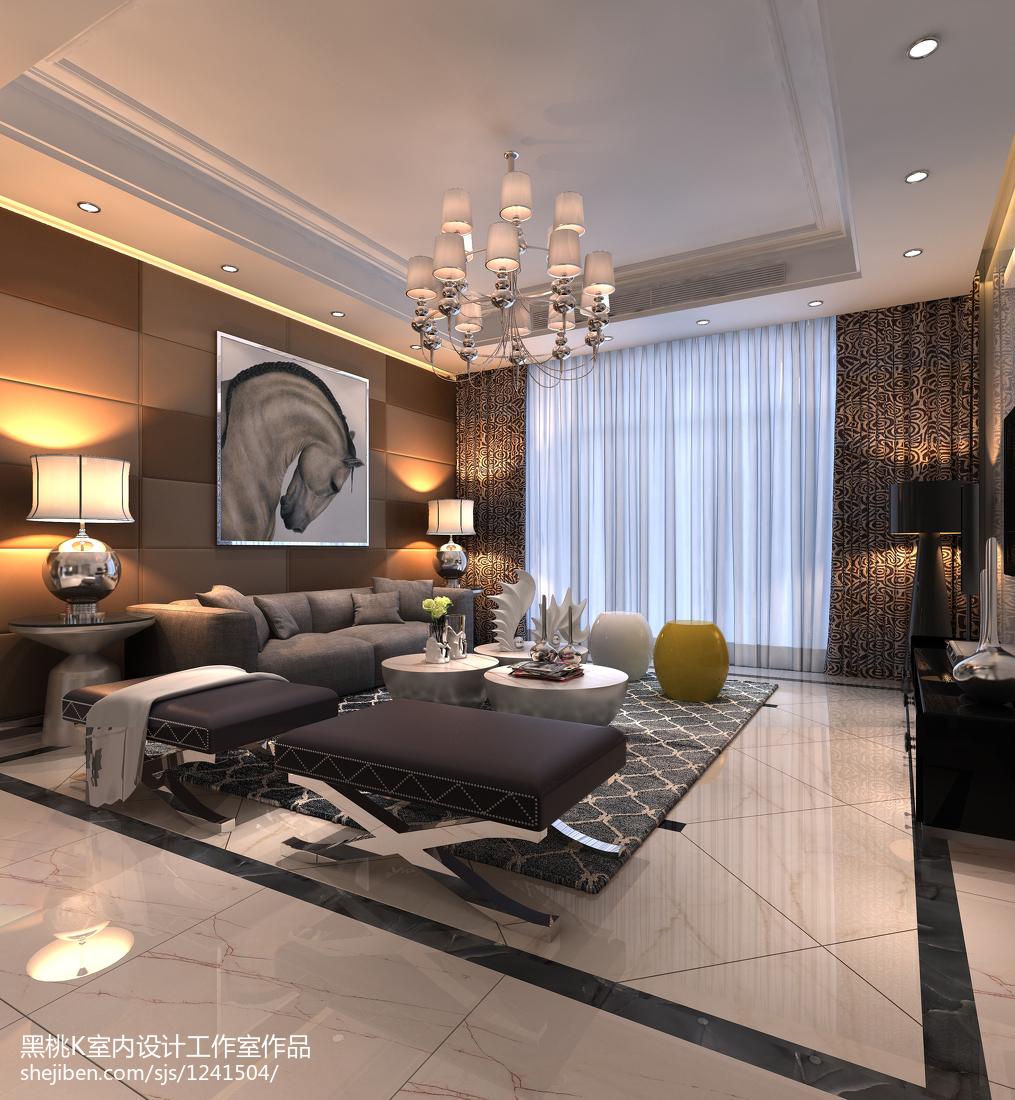 简欧客厅卧室设计