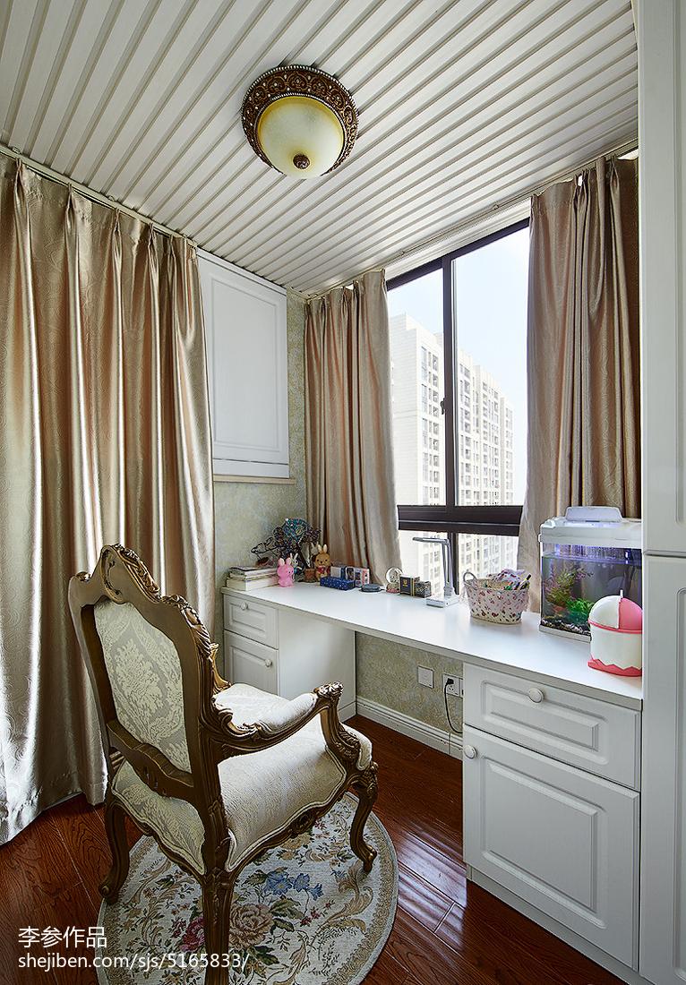 卧室电脑桌书架