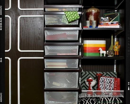 塑料收納盒和藤編收納盒