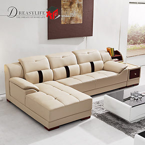 三包到家 客厅储物沙发 头层牛皮 组合 皮艺沙发 皮沙发 真皮沙发