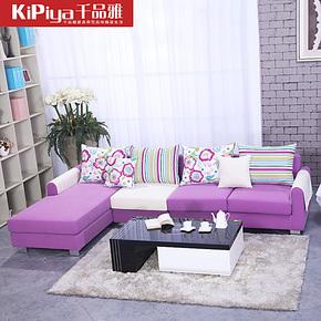 千品雅 布艺沙发组合现代 中小户型客厅沙发 L型转角 简约 沙发