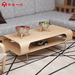 青岛一木家具 简约小户型茶几 实木茶几时尚  宜家木质茶桌小茶几
