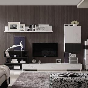 新悦 组合电视柜 电视墙 电视墙柜 B616-C电视机柜地柜矮柜壁挂柜