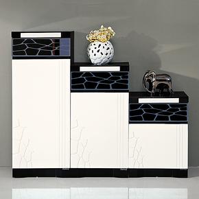 爆款特价包邮高低鞋柜大容量现代时尚烤漆黑白色玄关隔断门厅柜