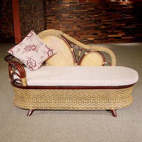 【藤爵】藤家具贵妃椅 贵妃榻 躺椅沙发欧式贵妃位藤编沙发床 A77