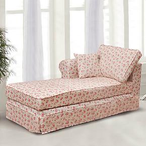 艾安娜田园乡村风格贵妃沙发客厅布艺沙发可拆洗休闲贵妃椅