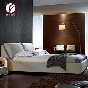 富尔维娅 布艺床 简约现代储物软床1.5米 1.8米可拆洗双人床FA178